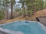 Enjoy the serenity and quiet location from the 5 person hot tub
