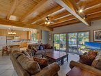 An open layout, real wood ceilings, plenty of living room seating and a flatscreen TV make Sierra Keys Manor your...