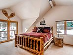 The main master bedroom is fit for a king. King of the mountain in this case. Just head out to the balcony if you don't...