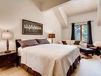 Settle into the king bed in the upstairs Master Bedroom, with extra room for two on the sleeper sofa