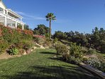 Take an afternoon stroll through the beautiful gardens on the property.