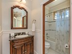 Enjoy the spacious ensuite bathroom.