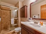 Treat yourself to a steamy shower in the Master Bathroom.