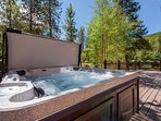 Soak in the gorgeous sunsets from the private outdoor hot tub.