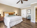 Take a vacation from your vacation in the calming Guest Bedroom.