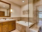 Take a long soak in the Master tub. Though it no longer functions as a jacuzzi, it's still a perfect place to soak...