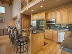 Take advantage of the ample counter space to whip up a meal for the whole party.