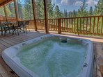 Loosen up in the hot tub after a long day hiking the trails or carving up the slopes.
