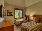 Guest Bedroom #4 is perfect for kids with 2 twin beds and a nice flatscreen TV.