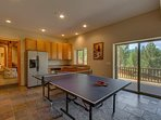 There are games galore, with a ping pong table on the lower level.  There's also a half kitchen - perfect for grill...