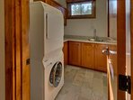 A laundry room with washer and dryer mean you can pack less, and just do a load of laundry mid-week.