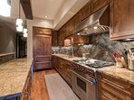 And high-end, stainless steel appliances will greet you in the kitchen.