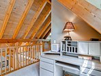 If you must work, the small office area in the loft offers a quiet space to focus.