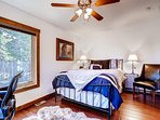 Upstairs queen bedroom #2 sleeps 2 and shares bathroom with Master.