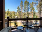 From the patio enjoy the 180 degrees views of the Breckenridge mountains.
