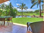 Enjoy some outdoor time on your ground floor lanai looking out at the pond.