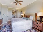 Fall asleep to your favorite show on the flatscreen TV in Master Bedroom #1.