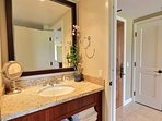 The second bathroom has shower and single sink, and can be accessed from the main living area or Guest Bedroom #2.