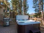 Grill, relax, and soak, all while enjoying the best views of Breckenridge.