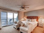 The 2nd floor master bedroom suite (#1) is very spacious, and offers additional seating.