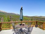 The view from the deck of the 10 mile range and surrounding forests is breathtaking.