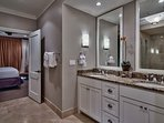 Enjoy the master en-suite bathroom with a separate shower and jetted tub for those who want a choice.