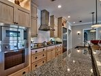 The kitchen is modern and has everything you need to cook a great meal.