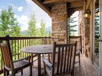 Eat dinner outside on the deck to some amazing views.