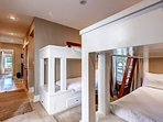 The first floor bunk bedroom #4- twin-sized bunks sleep 4. Each has a reading light to help at bedtime