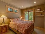 More of that royal treatment awaits in the fifth guest bedroom, with an inviting queen bed.