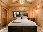 Welcome to Carriage House, complete with a queen bed and plenty of natural light.