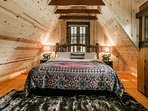 The guests staying in Base Camp will also enjoy the privacy of a king bed in the open loft.