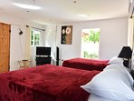 Free internet  Fully equipped interior with cable tv, air con, bathroom also kitchen