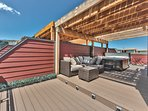 The Serene Rooftop Terrace with Comfortable Seating, 6-Seat Hot Tub and Amazing Views!
