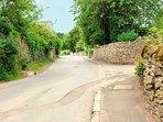 The quiet streets of Naunton