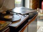 record player & vinyl in both retreats