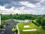 Large outdoor pool, new indoor pool facility, basketball court, shuffle board court, and horse shoes
