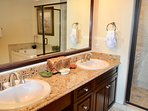 Master bathroom, double sinks