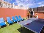 Terrace, pool tennis and barbacue