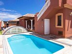 Terrace  and swimmingpool
