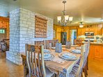 Enjoy home-cooked feasts at the large wooden table.