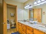 Wash up in the master  en-suite bathroom.