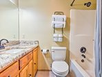 The second en-suite features a shower/tub combo.