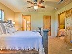 Each bedroom features an en-suite bath.