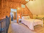 Teens will love a spot on the full bed in the loft.