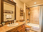 The 3 full guest bathrooms include shower/tub combos.
