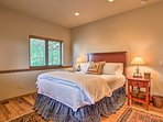 The first three bedrooms each offer queen beds.