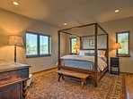 Two lucky hosts can claim the luxurious master bedroom.