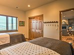 There are 2 twin beds with twin trundle beds.