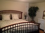 basement king bed